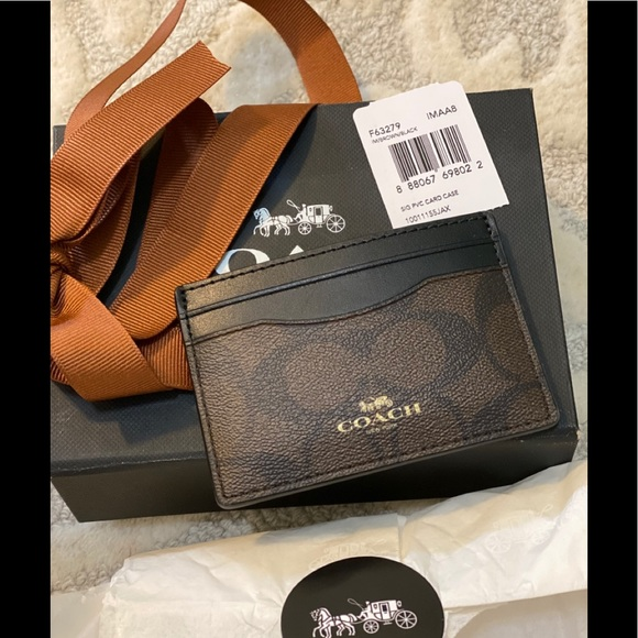 COACH Card Case with gift box